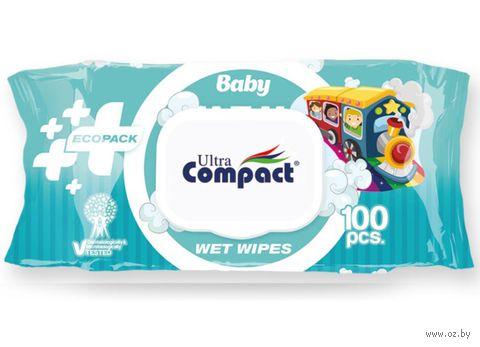 """Влажные салфетки детские """"Ecopack"""" (100 шт.) — фото, картинка"""