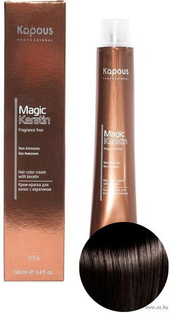 """Крем-краска для волос """"Non Ammonia"""" тон: 4.00, коричневый интенсивный — фото, картинка"""