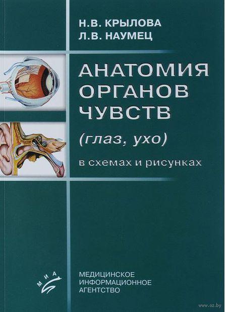 Анатомия органов чувств (глаз, ухо) в схемах и рисунках. Н. Крылова, Л. Наумец