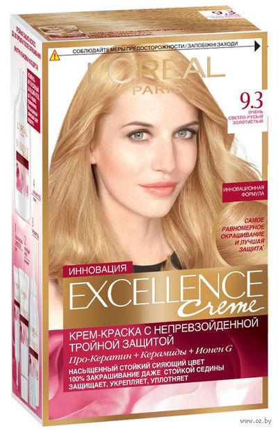 """Крем-краска для волос """"Excellence"""" (тон: 9.3, очень светло-русый золотистый) — фото, картинка"""