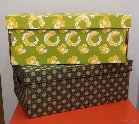 Набор коробок больших 2 шт. (салатовая и темно-зеленая)