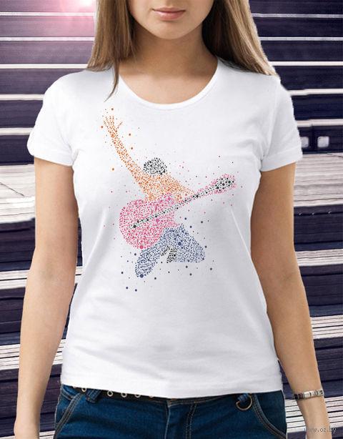 "Футболка женская ""Гитарист"" (размер 48; арт. 1) — фото, картинка"