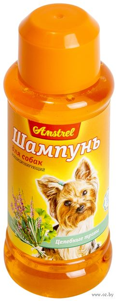 """Шампунь для собак """"Amstrel"""" (320 мл; с целебными травами) — фото, картинка"""