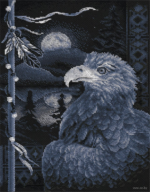 "Вышивка крестом ""Легенда о птице"" (240х325 мм) — фото, картинка"