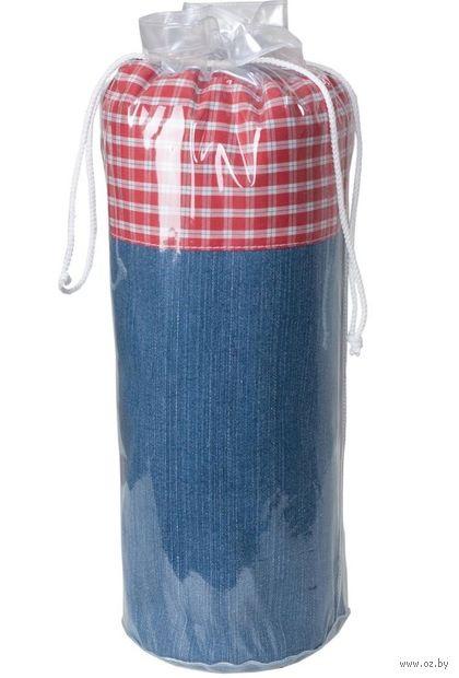 """Слинг-шарф """"Сити-джинс"""" (деним; красный) — фото, картинка"""