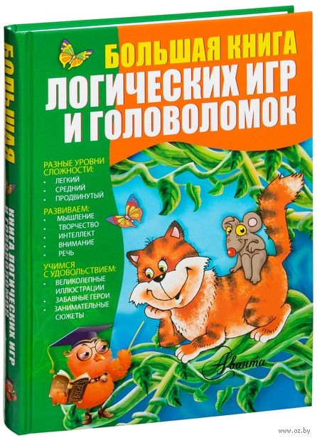 Большая книга логических игр и головоломок — фото, картинка