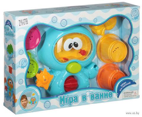 """Набор игрушек для купания """"Инопланетянин с формочками"""" — фото, картинка"""