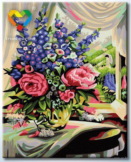 "Картина по номерам ""Розово-люпиновый букет"" (400x500 мм; арт. HB4050286)"