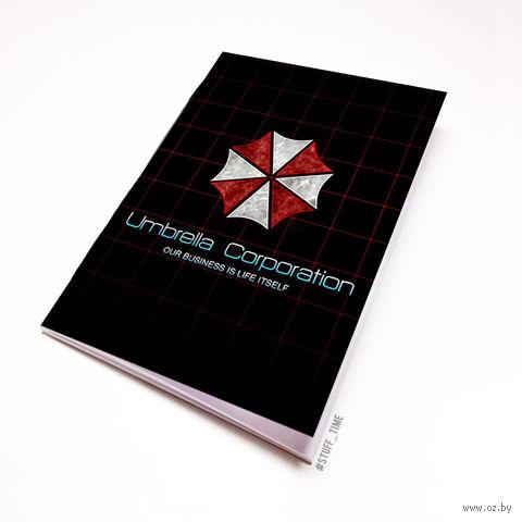 """Блокнот белый """"Обитель зла. Umbrella Corporation"""" А5 (арт. 424)"""