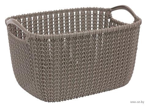 "Корзина ""Knit S"" (коричневая)"