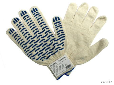 """Перчатки для садовых работ текстильные """"Волна"""" (M; 1 пара) — фото, картинка"""